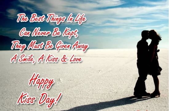 Happy Kiss Day 2017 Free Ecard For Girlfriend & Boyfriend