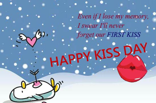 Happy Kiss Day 2017 Greeting Card For Fiance