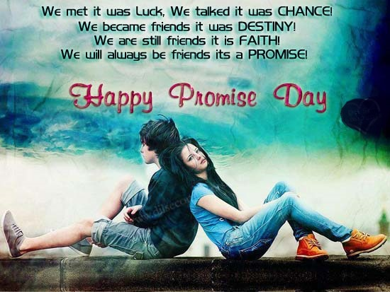 Happy Promise Day 2017 Image For GF & BF