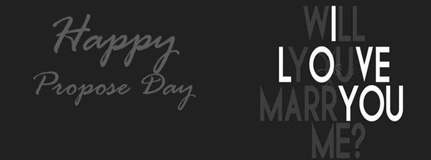 Happy Propose Day 2017 I love you Cover Picture For FB