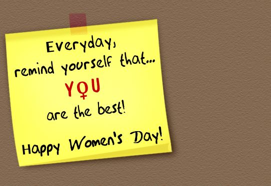 Women's Day 2017 Inspirational Greeting Card