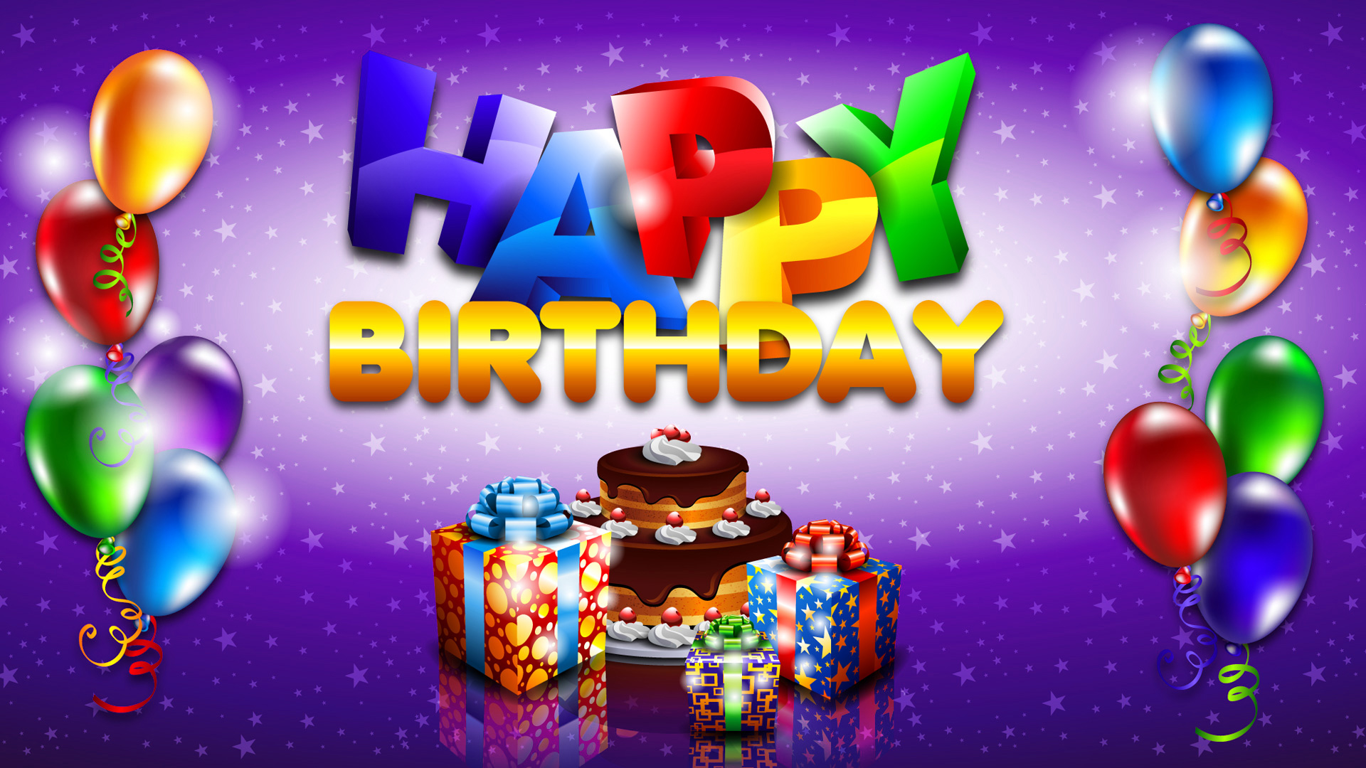 Happy Birthday HD Wallpaper with Cake