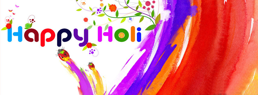 Happy Holi Facebook Cover Photos