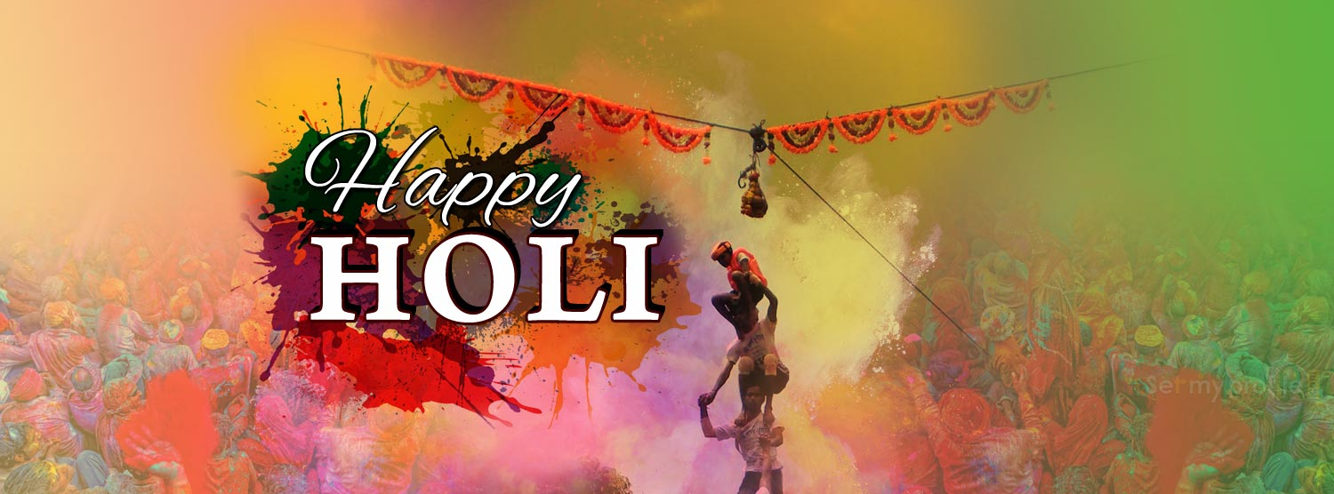 Happy Holi Twitter Cover Picture