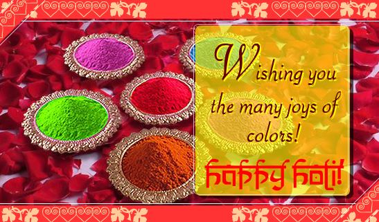 Holi 2017 festival Greeting Card Free Download