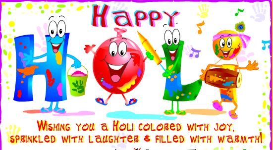 Holi Festival Greeting Card Free Download