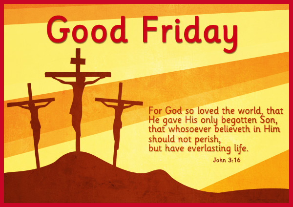 Good Friday 2017 Image with Quote